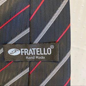 fratello Accessories - Fratello red and gray silk black tie